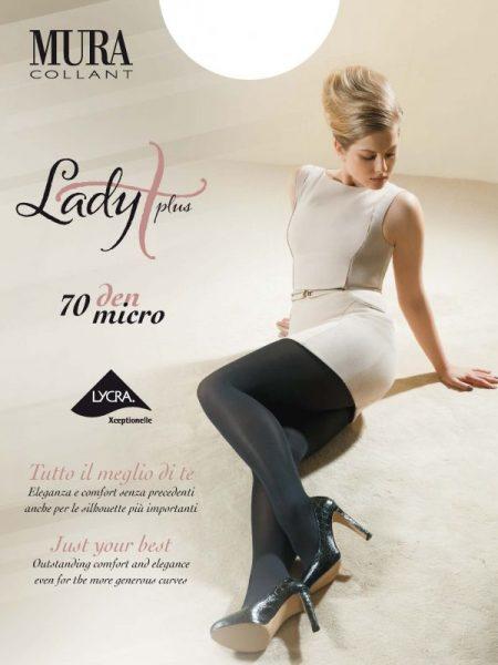Didelių dydžių pėdkelnės MURA Lady Plus Micro 70 den