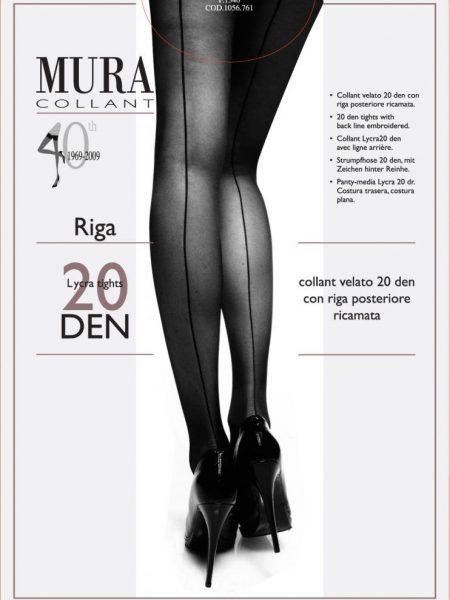 Pėdkelnės su siūlės imitacija MURA Riga 20 den