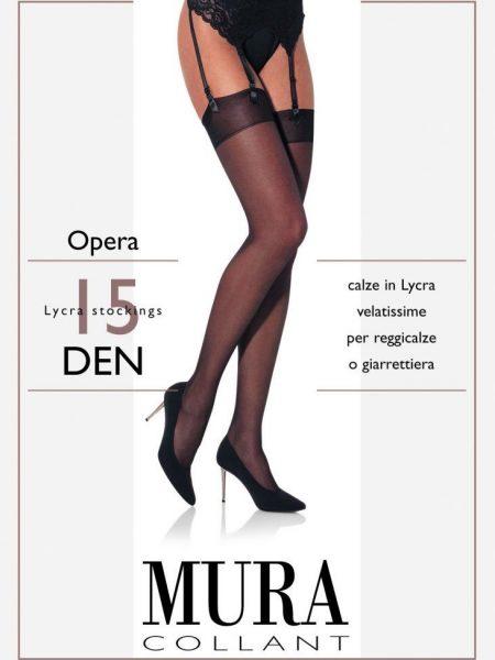 Prisegamos kojinės MURA Opera 15 den