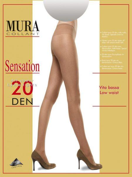 Pėdkelnės žemintu juosmeniu MURA Sensation 20den