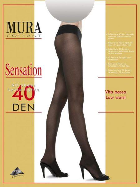 Pėdkelnės žemintu juosmeniu MURA Sensation 40 den