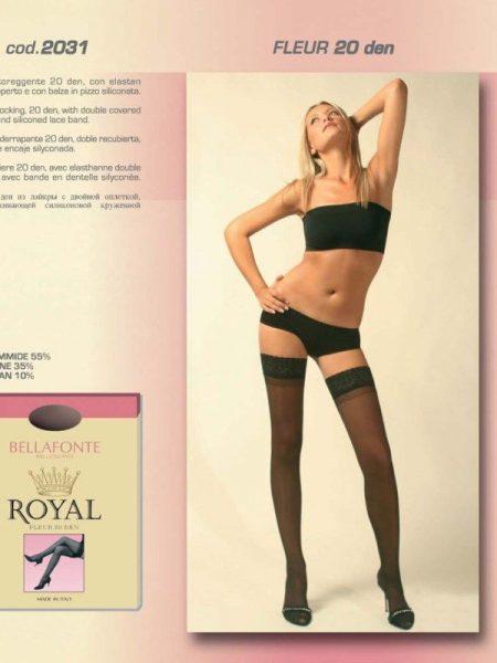 Prilimpančios kojinės BELLAFONTE ROYAL FLEUR 20 den