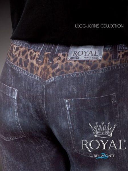 Tamprės-džinsai ROYAL BELLAFONTE Leggins Wild Jeans 160 den