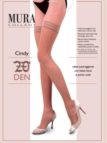 Prilimpančios kojinės MURA Cindy 20 den