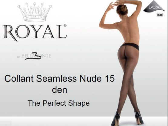 BESIŪLĖS pėdkelnės ROYAL BELLAFONTE Seamless Nude 15den