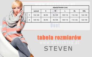 Steven Laura dydžių lentelė